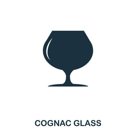 Cognac Glass icon. Line style icon design. UI. Illustration of cognac glass icon. Pictogram isolated on white. Ready to use in web design, apps, software, print.