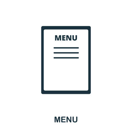 Menu icon. Line style icon design. UI. Illustration of menu icon. Pictogram isolated on white. Ready to use in web design, apps, software, print. Stok Fotoğraf