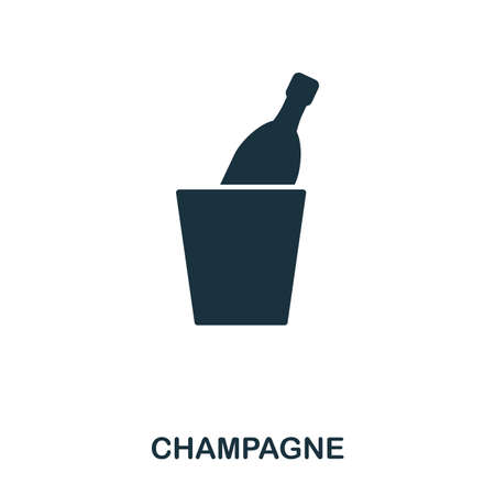 Champagne icon. Line style icon design. UI. Illustration of champagne icon. Pictogram isolated on white. Ready to use in web design, apps, software, print.