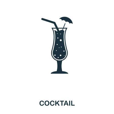 Cocktail icon. Line style icon design. UI. Illustration of cocktail icon. Pictogram isolated on white. Ready to use in web design, apps, software, print. 版權商用圖片