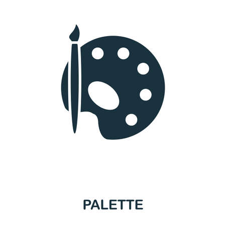 Palette icon. Line style icon design. UI. Illustration of palette icon. Pictogram isolated on white. Ready to use in web design, apps, software, print Illustration