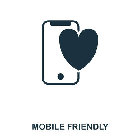 Mobile Friendly icon. Line style icon design. UI. Illustration of mobile friendly icon. Pictogram isolated on white. Ready to use in web design, apps, software, print