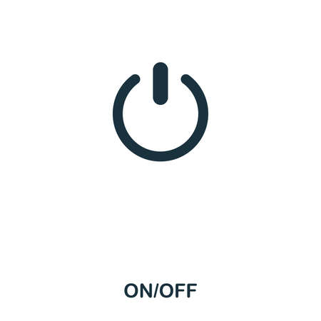 On Off icon. Line style icon design. UI. Illustration of on off icon. Pictogram isolated on white. Ready to use in web design, apps, software, print Banque d'images - 104191993