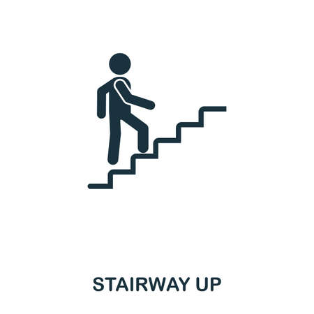 Stairway Up icon. Line style icon design. UI. Illustration of stairway up icon. Pictogram isolated on white. Ready to use in web design, apps, software, print