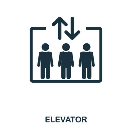 Elevator icon. Line style icon design. UI. Illustration of elevator icon. Pictogram isolated on white. Ready to use in web design, apps, software, print