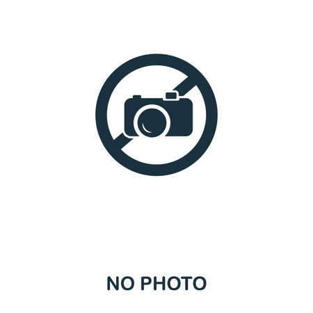 No Photo icon. Line style icon design. UI. Illustration of no photo icon. Pictogram isolated on white. Ready to use in web design, apps, software, print 写真素材