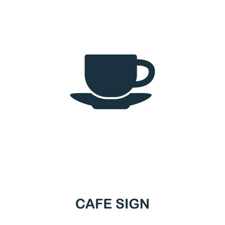 Cafe Sign icon. Line style icon design. UI. Illustration of cafe sign icon. Pictogram isolated on white. Ready to use in web design, apps, software, print Imagens