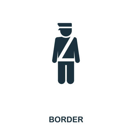 Border icon. Line style icon design. UI. Illustration of border icon. Pictogram isolated on white. Ready to use in web design, apps, software, print 스톡 콘텐츠 - 104399849