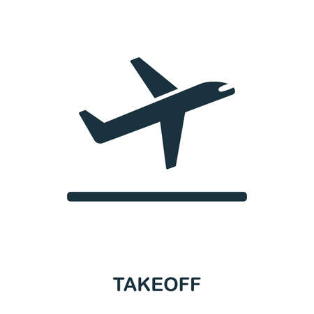 Takeoff icon. Line style icon design. UI. Illustration of takeoff icon. Pictogram isolated on white. Ready to use in web design, apps, software, print 矢量图像
