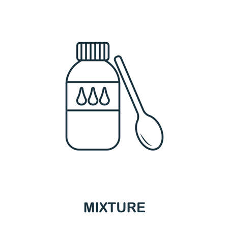 Mixture icon. Outline style icon design. UI. Illustration of mixture icon. Pictogram isolated on white. Ready to use in web design, apps, software, print and background.