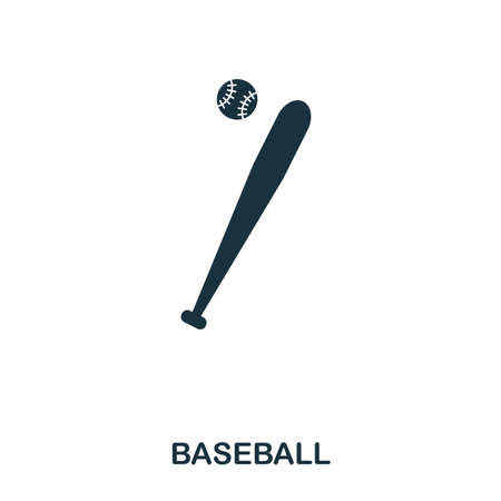 Baseball icon. Premium style icon design. UI. Illustration of baseball icon. Pictogram isolated on white. Ready to use in web design, apps, software, print