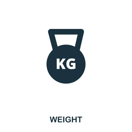 Weight icon. Premium style icon design. UI. Illustration of weight icon. Pictogram isolated on white. Ready to use in web design, apps, software, print