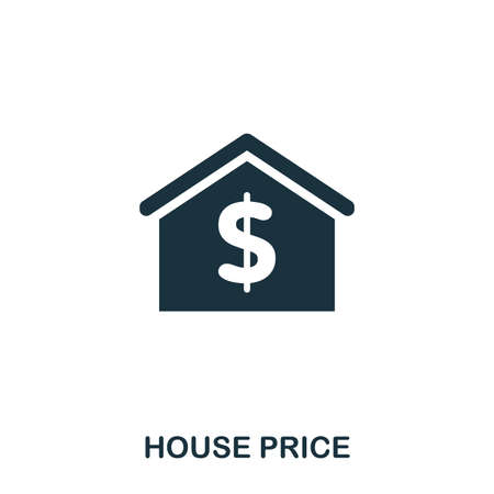 House Price creative icon. Simple element illustration. House Price concept symbol design from real estate collection. Can be used for web, mobile and print. web design, apps, software, print