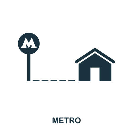 Metro creative icon. Simple element illustration. Metro concept symbol design from real estate collection. Can be used for web, mobile and print. web design, apps, software, print.