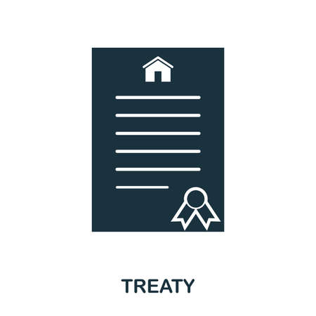 Treaty creative icon. Simple element illustration. Treaty concept symbol design from real estate collection. Can be used for web, mobile and print. web design, apps, software, print