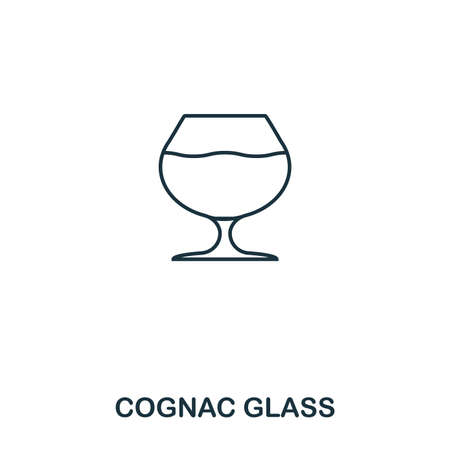 Cognac Glass icon. Outline style icon design. UI. Illustration of cognac glass icon. Pictogram isolated on white. Ready to use in web design, apps, software, print.