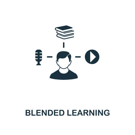 Blended Learning creative icon. Simple element illustration. Blended Learning concept symbol design from online education collection. Can be used for web, mobile, web design, apps, software, print