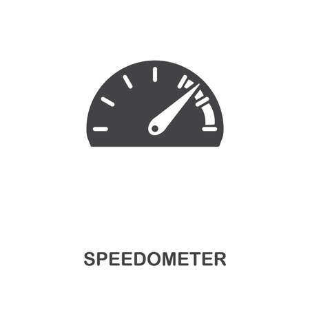 Speedometer creative icon. Simple element illustration. Speedometer concept symbol design from car parts collection. Can be used for web, mobile, web design, apps, software, print