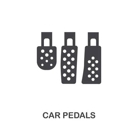 Car Pedals creative icon. Simple element illustration. Car Pedals concept symbol design from car parts collection. Can be used for web, mobile, web design, apps, software, print 免版税图像