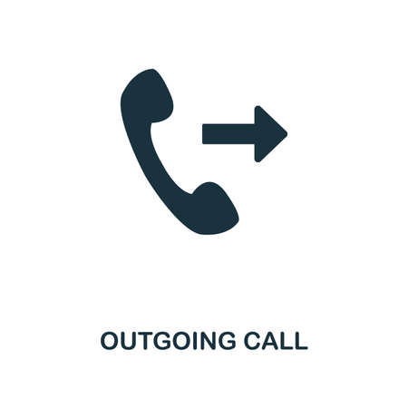 Outgoing Call creative icon. Simple element illustration. Outgoing Call concept symbol design from contact us collection. Can be used for web, mobile and print. web design, apps, software, print Vector Illustratie