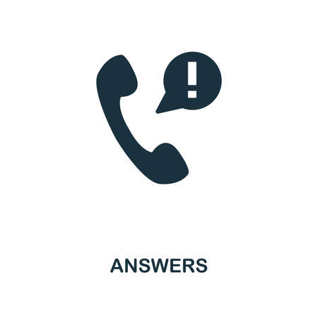 Answers creative icon. Simple element illustration. Answers concept symbol design from contact us collection. Can be used for web, mobile and print. web design, apps, software, print. Vectores