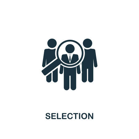 Selection creative icon. Simple element illustration. Selection concept symbol design from human resources collection. Can be used for web, mobile and print. web design, apps, software, print.