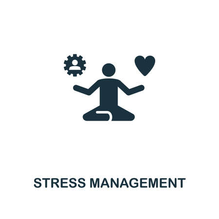 Stress Management creative icon. Simple element illustration. Stress Management concept symbol design from soft skills collection. Can be used for mobile and web design, apps, software, print. Vettoriali