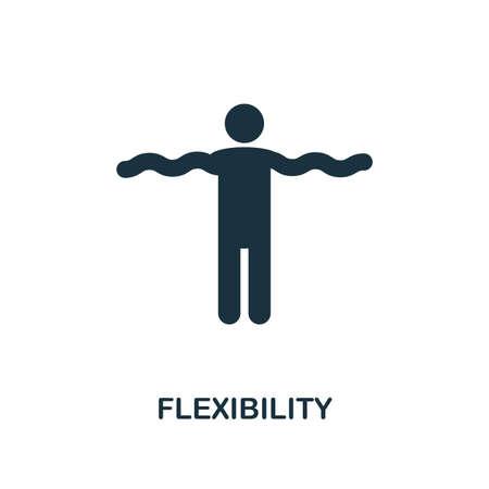 Icône de création de flexibilité. Illustration d'élément simple. Conception de symbole de concept de flexibilité de la collection de compétences générales. Peut être utilisé pour la conception mobile et Web, les applications, les logiciels, l'impression.