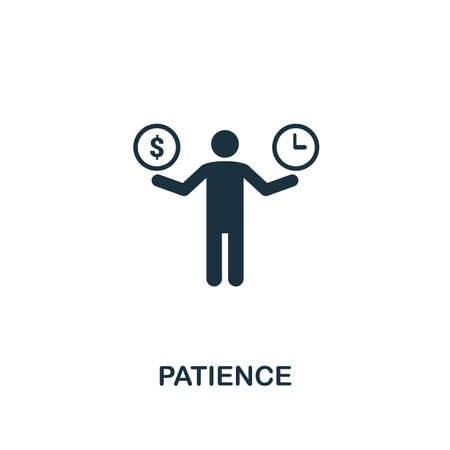 Patience creative icon. Simple element illustration. Patience concept symbol design from soft skills collection. Can be used for mobile and web design, apps, software, print. 矢量图像