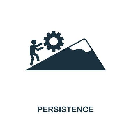 Kreatives Symbol für Persistenz. Einfache Elementillustration. Persistenzkonzept-Symboldesign aus der Soft Skills-Sammlung. Kann für Mobil- und Webdesign, Apps, Software und Druck verwendet werden.