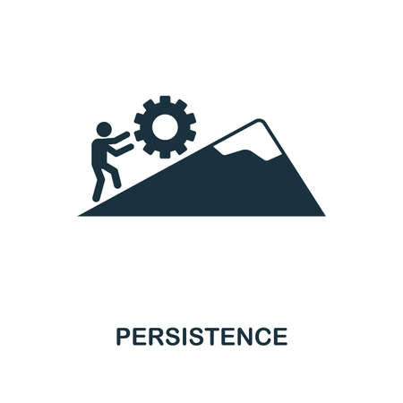 Persistence creative icon. Simple element illustration. Persistence concept symbol design from soft skills collection. Can be used for mobile and web design, apps, software, print. Stock Illustratie