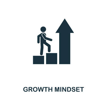 Growth Mindset creative icon. Simple element illustration. Growth Mindset concept symbol design from soft skills collection. Can be used for mobile and web design, apps, software, print. Ilustracja