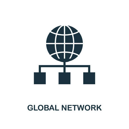 Global Network creative icon. Simple element illustration. Global Network concept symbol design from web development collection. Can be used for mobile and web design, apps, software, print.