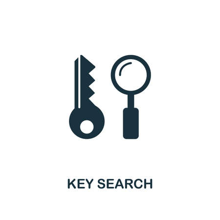 Key Search creative icon. Simple element illustration. Key Search concept symbol design from web development collection. Can be used for mobile and web design, apps, software, print.