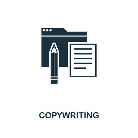 Copywriting creative icon. Simple element illustration. Copywriting concept symbol design from web development collection. Can be used for mobile and web design, apps, software, print.