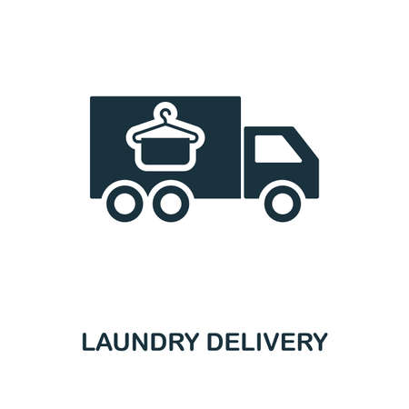 Laundry Delivery creative icon. Simple element illustration. Laundry Delivery concept symbol design from cleaning collection. Can be used for mobile and web design, apps, software, print.  イラスト・ベクター素材