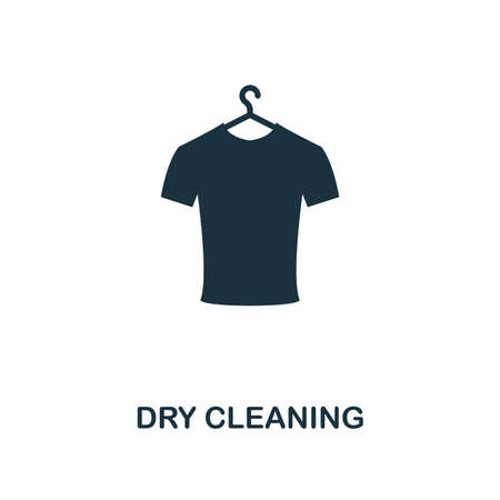 Dry Cleaning creative icon. Simple element illustration. Dry Cleaning concept symbol design from cleaning collection. Can be used for mobile and web design, apps, software, print. Vectores