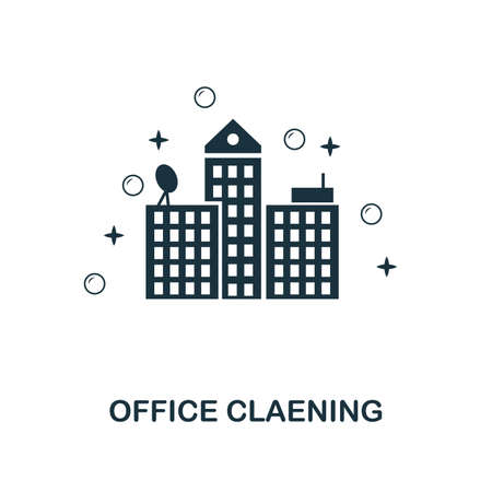 Office Cleaning creative icon. Simple element illustration. Office Cleaning concept symbol design from cleaning collection. Can be used for mobile and web design, apps, software, print.