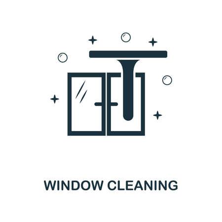 Icono creativo de limpieza de ventanas. Ilustración de elemento simple. Diseño de símbolo de concepto de limpieza de ventanas de colección de limpieza. Se puede utilizar para diseño web y móvil, aplicaciones, software, impresión.