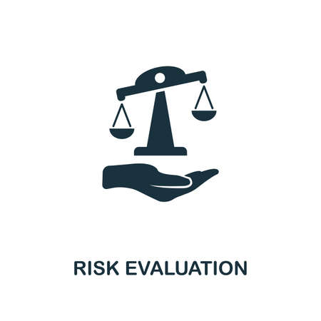 Risk Evaluation creative icon. Simple element illustration. Risk Evaluation concept symbol design from insurance collection. Can be used for mobile and web design, apps, software, print.