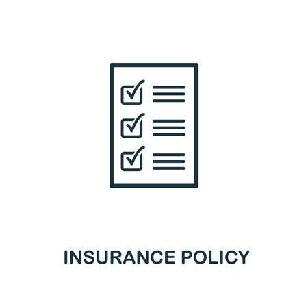 Insurance Policy creative icon. Simple element illustration. Insurance Policy concept symbol design from insurance collection. Can be used for mobile and web design, apps, software, print.