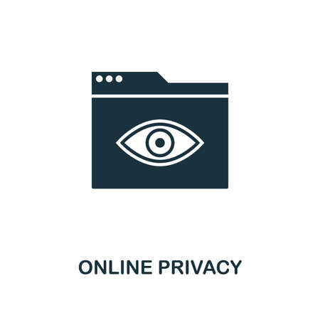 Online Privacy creative icon. Simple element illustration. Online Privacy concept symbol design from web development collection. Can be used for mobile and web design, apps, software, print.