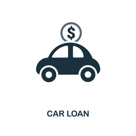 Car Loan creative icon. Simple element illustration. Car Loan concept symbol design from personal finance collection. Can be used for mobile and web design, apps, software, print.