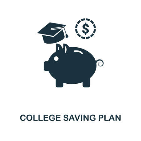 College Saving Plan creative icon. Simple element illustration. College Saving Plan concept symbol design from personal finance collection. Can be used for mobile and web design, apps, software, print 일러스트