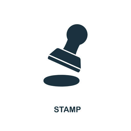 Stamp creative icon. Simple element illustration. Stamp concept symbol design from personal finance collection. Can be used for mobile and web design, apps, software, print.
