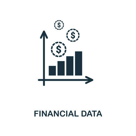 Financial Data creative icon. Simple element illustration. Financial Data concept symbol design from personal finance collection. Can be used for mobile and web design, apps, software, print. Vecteurs