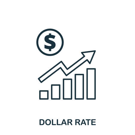 Dollar Rate Increase Graphic icon. Mobile apps, printing and more usage. Simple element sing. Monochrome Dollar Rate Increase Graphic icon illustration