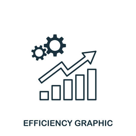 Efficiency Increase Graphic icon. Mobile apps, printing and more usage. Simple element sing. Monochrome Efficiency Increase Graphic icon illustration