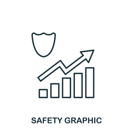 Safety Increase Graphic icon. Mobile apps, printing and more usage. Simple element sing. Monochrome Safety Increase Graphic icon illustration