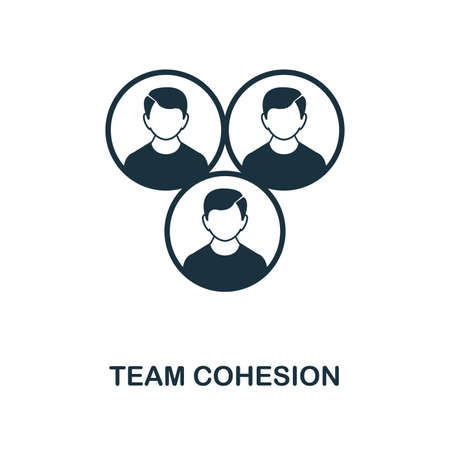 Team Cohesion icon. Monochrome style icon design from project management icon collection. UI. Illustration of team cohesion icon. Ready to use in web design, apps, software, print.